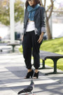 Vintage-blazer-black-american-apparel-pants