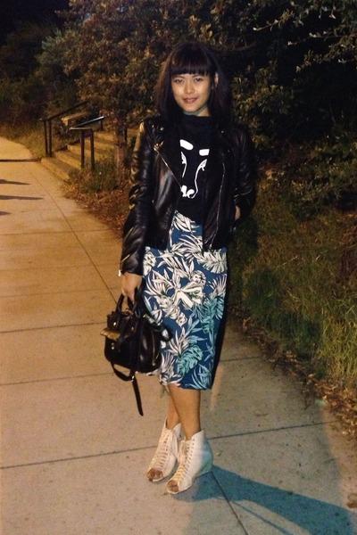 midi dress Zara dress - black H&M jacket