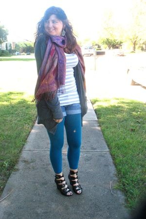 black Steve Madden shoes - We Love Colors tights - Levis shorts - Forever 21 shi