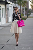 Forever 21 sweater - kate spade bag - ann taylor blouse - Zara heels