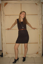 Urban Outfitters dress - from mom belt - Elie Tahari shoes - Pippen NYC necklace