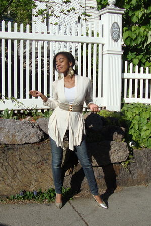 Urban Outfitters cardigan - H&M belt - Delicious shoes