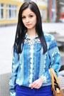 Bronze-zara-bag-blue-zara-blouse-silver-mango-necklace-blue-zara-pants