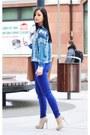 Bronze-zara-bag-silver-mango-necklace-blue-zara-blouse-blue-zara-pants