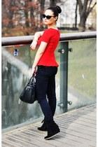 Zara blouse - Zara sneakers