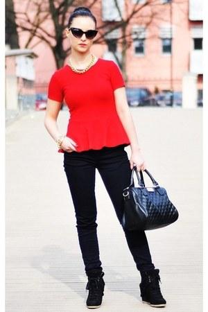 Mango bag - Zara blouse