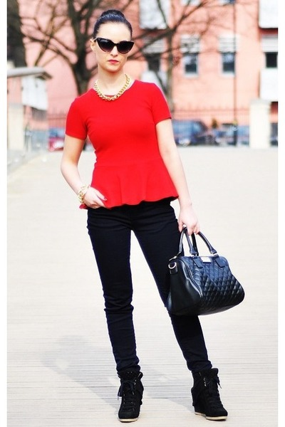 Mango bag - Zara blouse