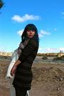 White-vintage-coat-brown-h-m-dress-black-dkny-tights-black-frye-boots-be