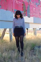 blue rodarte x target shirt - black Urban Outfitters skirt - blue coach belt - b