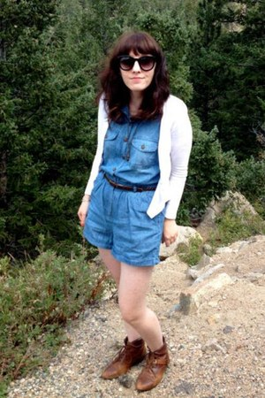 Urban Outfitters boots - Forever 21 sunglasses - Forever21 romper
