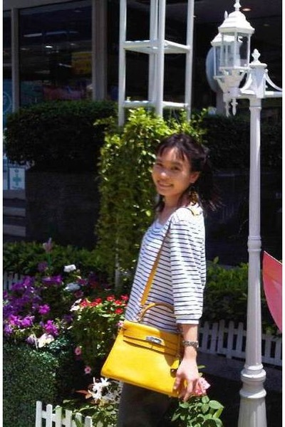 Hermes bag - striped cotton Portland blouse