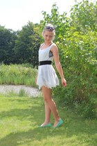 H&M sunglasses - Sisters point dress - H&M skirt - H&M flats