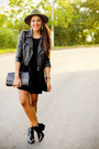 Black-brandy-melville-dress-black-gypsy-warrior-jacket