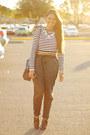 Black-jogger-zara-pants-black-striped-zara-top