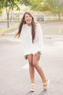 Off-white-lace-zara-shorts-ivory-forever-21-top