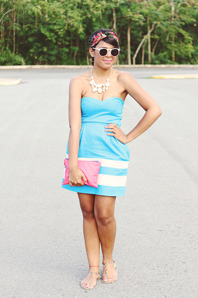sky blue Zara dress