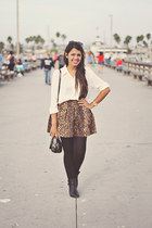 dark brown Zara skirt