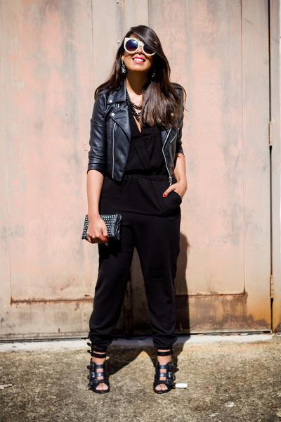 black leather gypsy warrior jacket - black Forever 21 romper