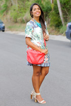 ivory floral print Sheinside dress