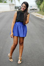 Black-forever-21-top-blue-forever-21-skirt