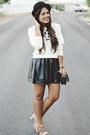 Black-h-m-hat-ivory-leopard-print-la-hearts-sweater-black-leather-skirt