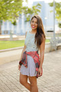 Navy-zara-dress-ruby-red-plaid-nollie-shirt-white-converse-sneakers