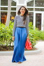 Coral-zara-bag-blue-maxi-zara-skirt