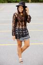Black-aztec-print-la-hearts-shorts-black-lace-la-hearts-top
