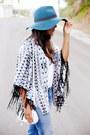 Sky-blue-boyfriend-zara-jeans-teal-wide-brim-kendall-kylie-hat