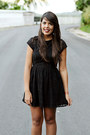 Black-ankle-boots-black-lace-h-m-dress-black-leather-h-m-jacket