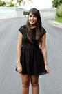 Black-ankle-boots-black-lace-h-m-dress-black-leather-h-m-jacket