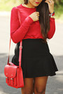 Black-mermaid-zara-skirt-brick-red-zara-top