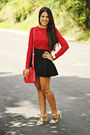 Brick-red-zara-top-black-mermaid-zara-skirt