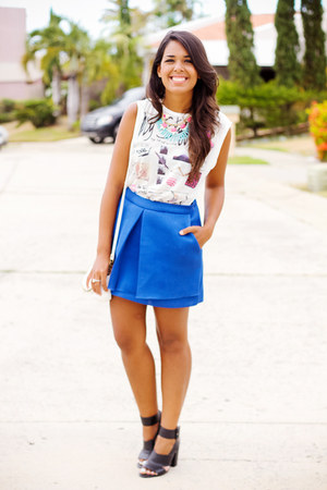 blue Front Row Shop skirt