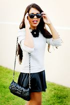 black necklace Forever 21 accessories - gray Zara sweater