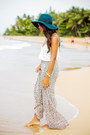 Teal-wide-brim-kendall-kylie-for-pacsun-hat