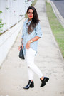 Black-ankle-forever-21-boots-white-pacsun-jeans