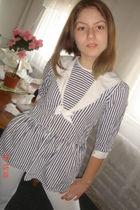 white vintage dress - white tights