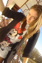 vintage t-shirt - H&M blazer - dots x Orsay tights