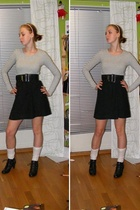 Cubus top - From my mum belt - H&M skirt - H&M tights - Sko punkten shoes