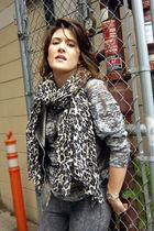 Zara shirt - H&M scarf - Forever21 vest - H&M leggings