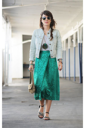 Pimkie jacket - vintage skirt - H&M t-shirt - Cosmo shoes - Kookai purse