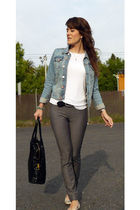 H&M jacket - Mango t-shirt - H&M pants - Bel Air belt - Bottega Veneta purse