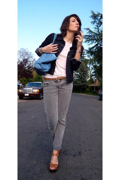 goyard purse - H&M shoes - sass & bide jeans - Levis jacket - Mango t-shirt