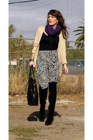 Mango cardigan - H&M pants - Nine West boots - Burberry scarf - Bottega Veneta p