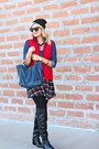 Black-macys-boots-black-beanie-jcrew-hat-blue-michael-kors-bag