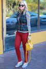 Mustard-pashli-31-phillip-lim-bag-navy-stripes-loft-top