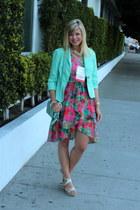 aquamarine crossbody purse Coach Penny Bag bag - hot pink BB Dakota dress