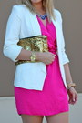 Hot-pink-wrap-dress-rachel-roy-dress-white-lc-lauren-conrad-blazer