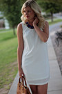 White-chiffon-truly-yours-dress-brown-robinson-tote-tory-burch-bag